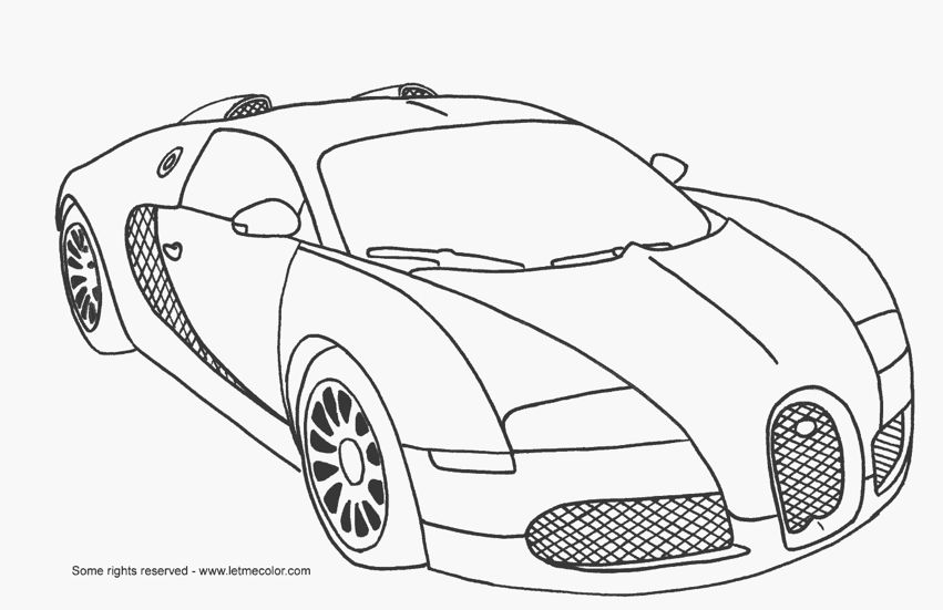 Race Car Coloring Page coloring page & book for kids.