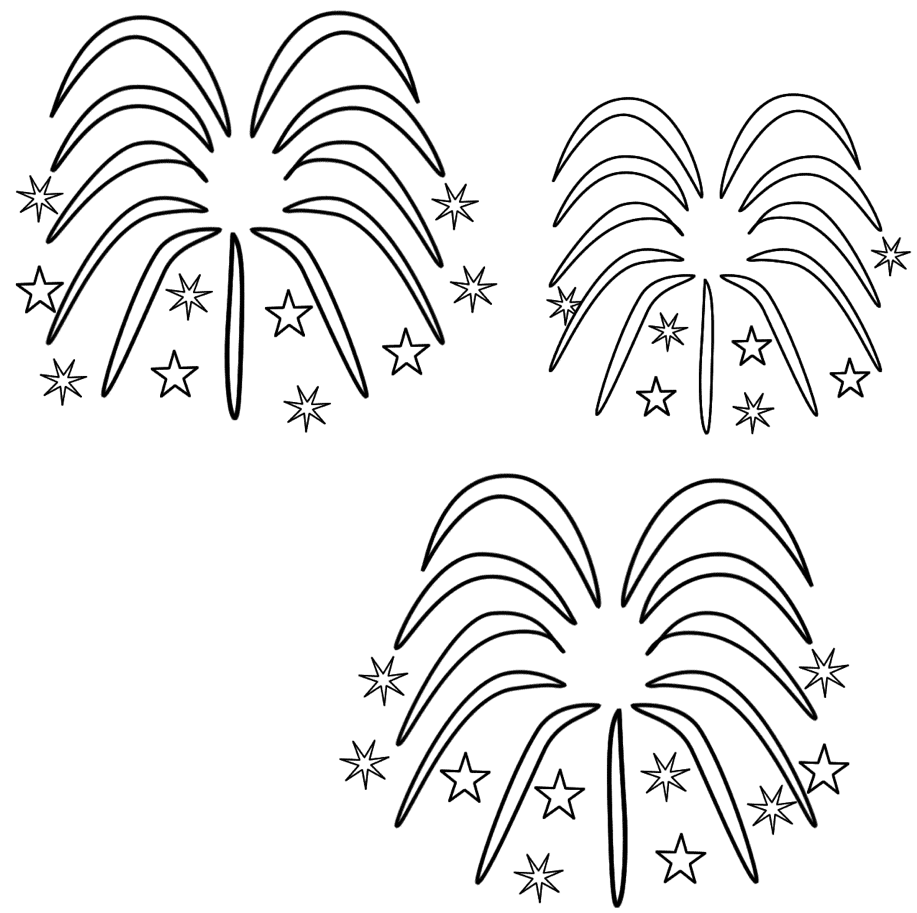 Fireworks Coloring Page Coloring Page Book For Kids