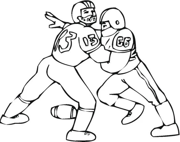 Football Defense Coloring Page & Coloring Book