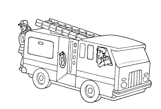 Free Fire Truck Coloring Sheets  Coloring Page Cartoon