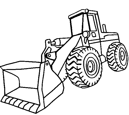 Front End Loader Coloring Page & Coloring Book