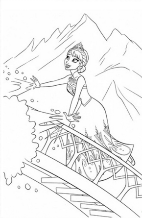 Movies : Shrek and Donkey Coloring Page, Frozen Coloring