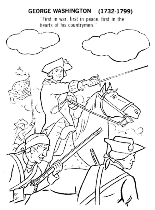 Printable george-washington-coloringpage