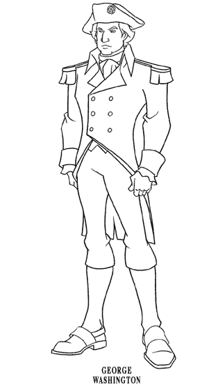 George Washington Coloring Page Horse Sketch Coloring Page