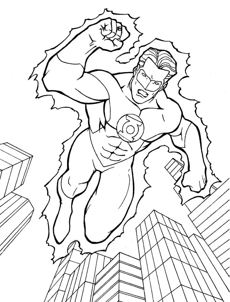 Green Lantern Coloring Page & Coloring Book