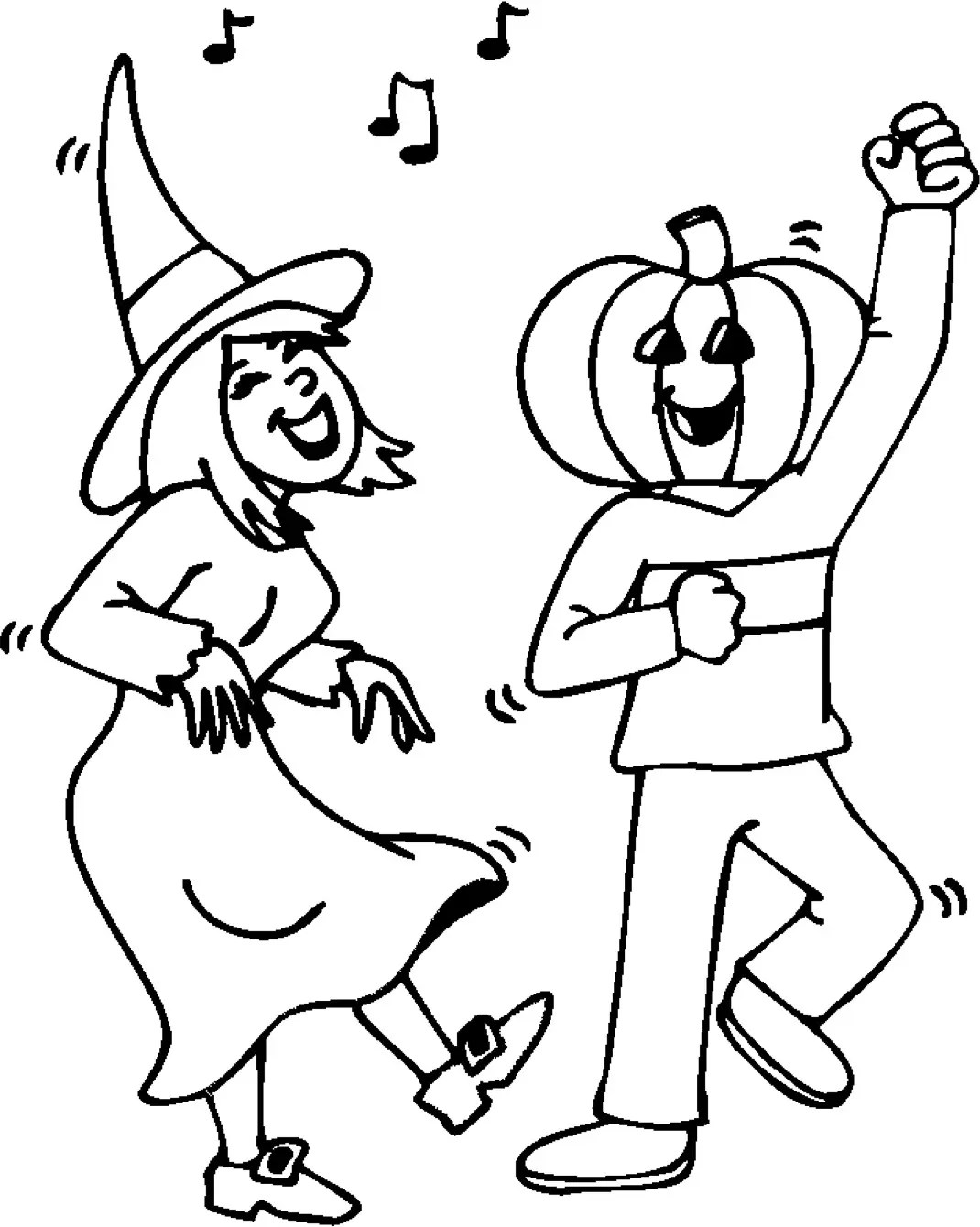 Halloween Party Coloring Page Coloring Page Amp Book For Kids