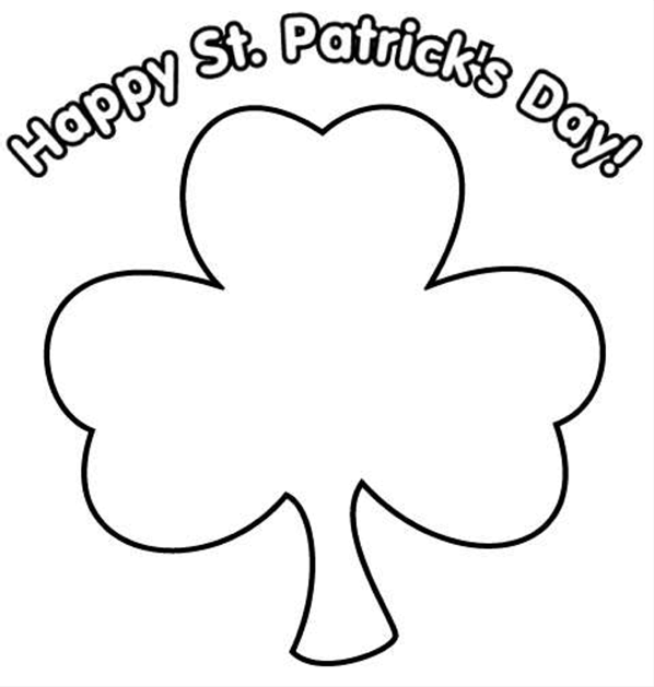 Happy St Patrick's Day Printable coloring page & book for