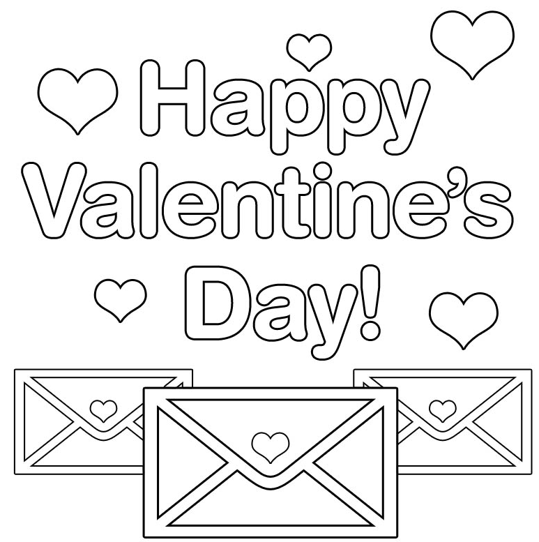 Printable happy-valentines-day-coloring-page