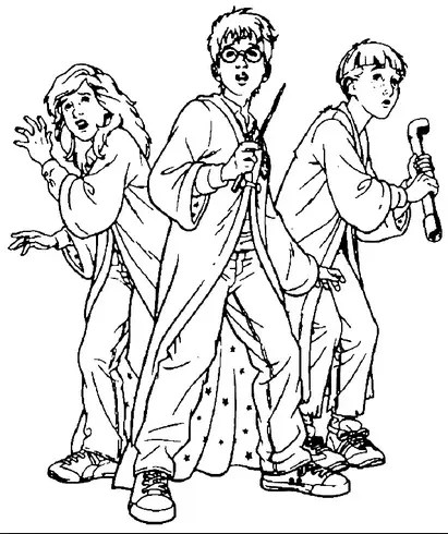 Harry Potter Coloring Page & Coloring Book