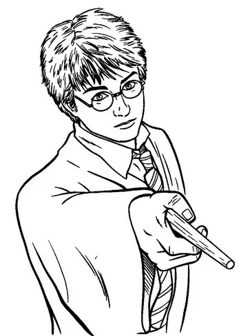 Harry Potter Wand Coloring Page & Coloring Book