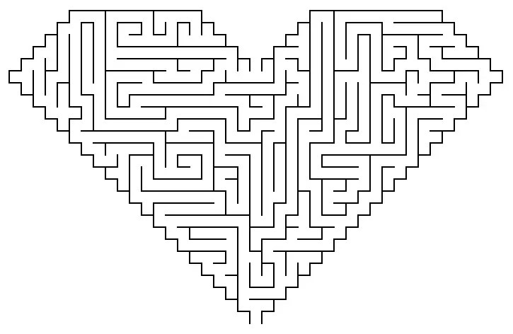 Heart Maze Coloring Page Amp Coloring Book