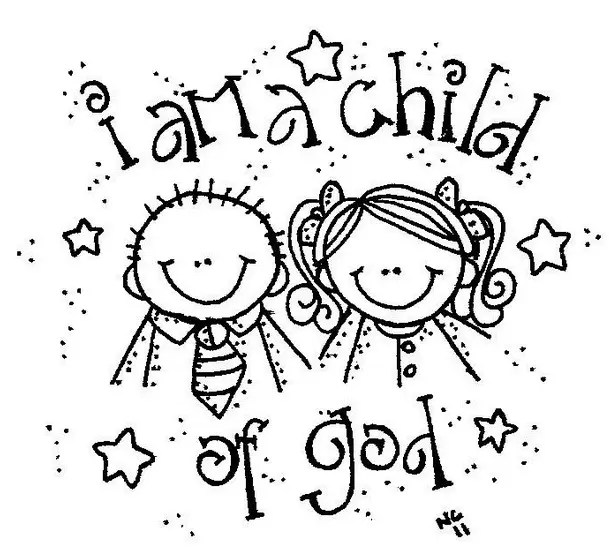 I Am A Child of God Coloring Page & Coloring Book