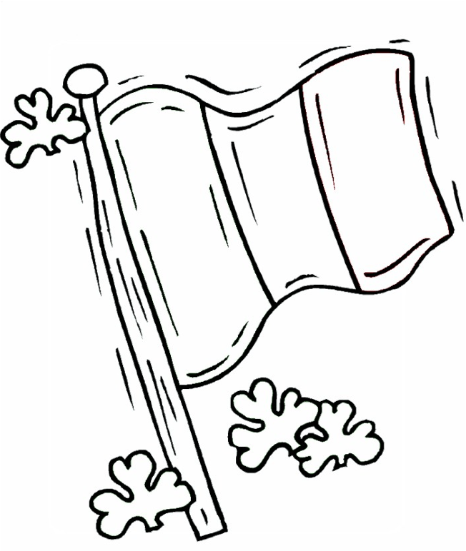 Irish Flag Coloring Page coloring page & book for kids.
