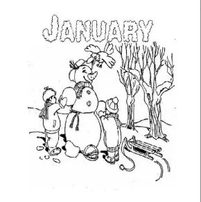 Winter : Adult Snowflake Coloring Page, Snow Day, Snow Day