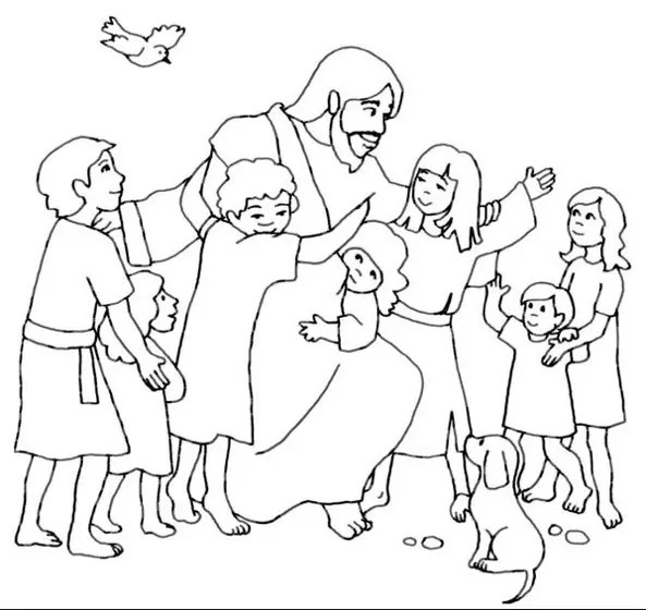 Jesus Loves Me coloring page & book for kids.
