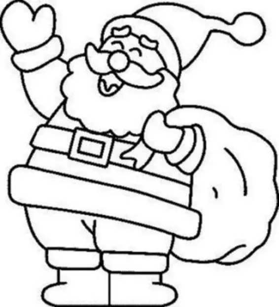 Jolly Santa Claus Coloring Page Coloring Page Book For Kids