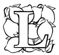 Malvorlagen Lowe Printable Letters Letters For Coloring L