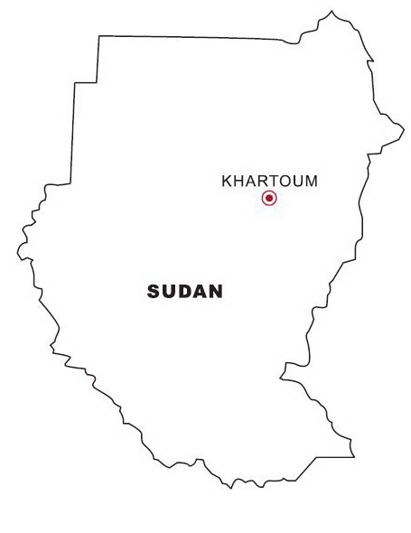 Map Of Sudan Coloring Page Coloring Page Amp Book For Kids