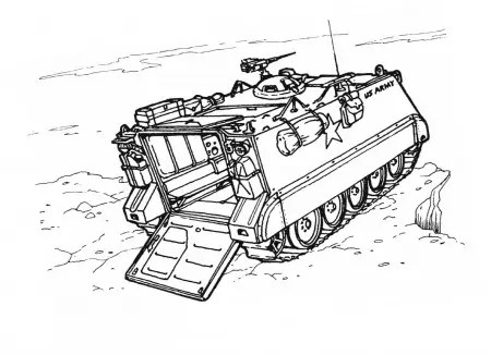 Military Vehicle Coloring Page & Coloring Book