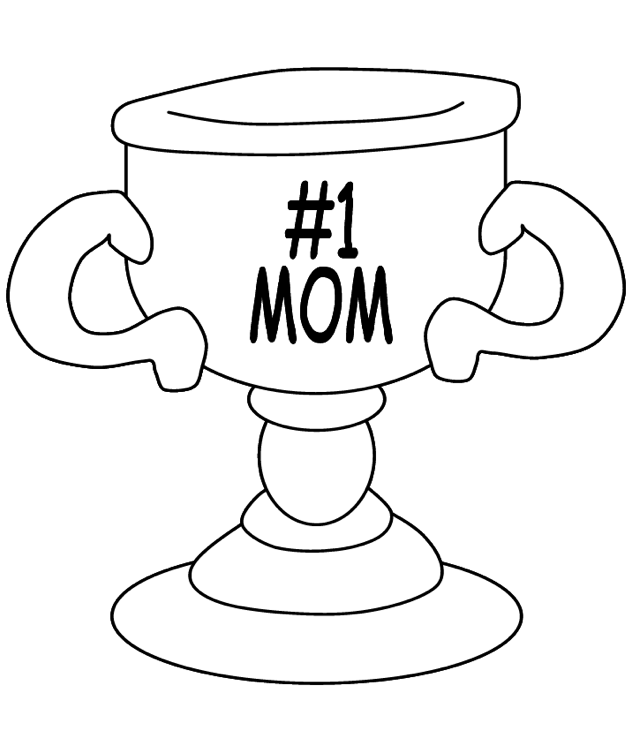 Printable mothers-day-coloring-page-trophy