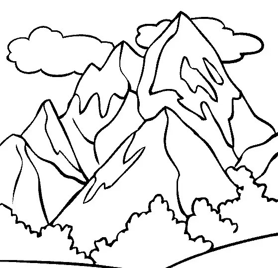 Mountain Top Coloring Page Amp Coloring Book