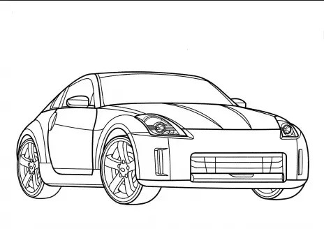 NissanGTR Coloring Page coloring page & book for kids.