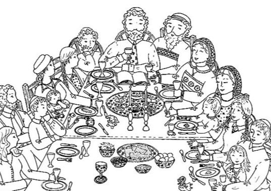 Coloring Pages Jesus At Banquet Coloring Pages