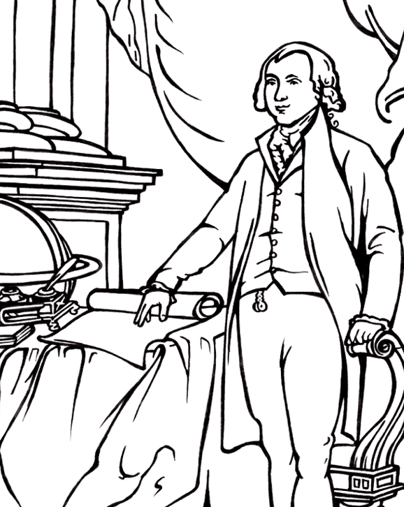 President James Madison Coloring Page & Coloring Book