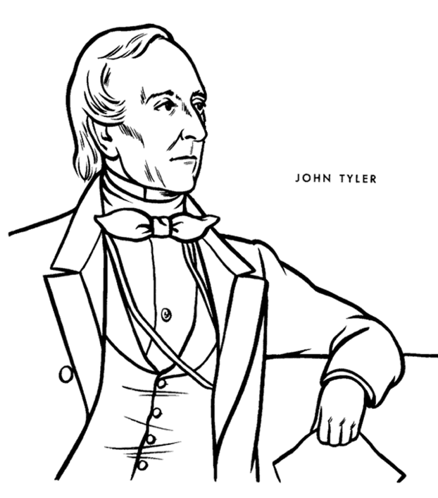Printable president-john-tyler-coloring-page