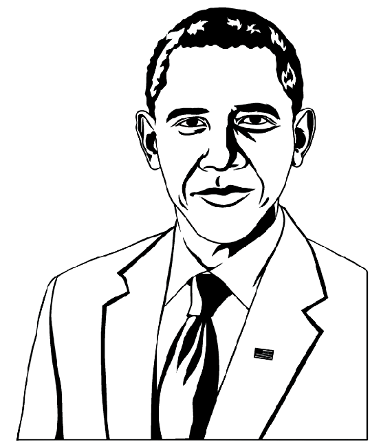 President Obama Coloring Page2 & Coloring Book