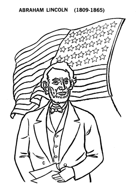 Printable presidents-day-lincoln-coloring