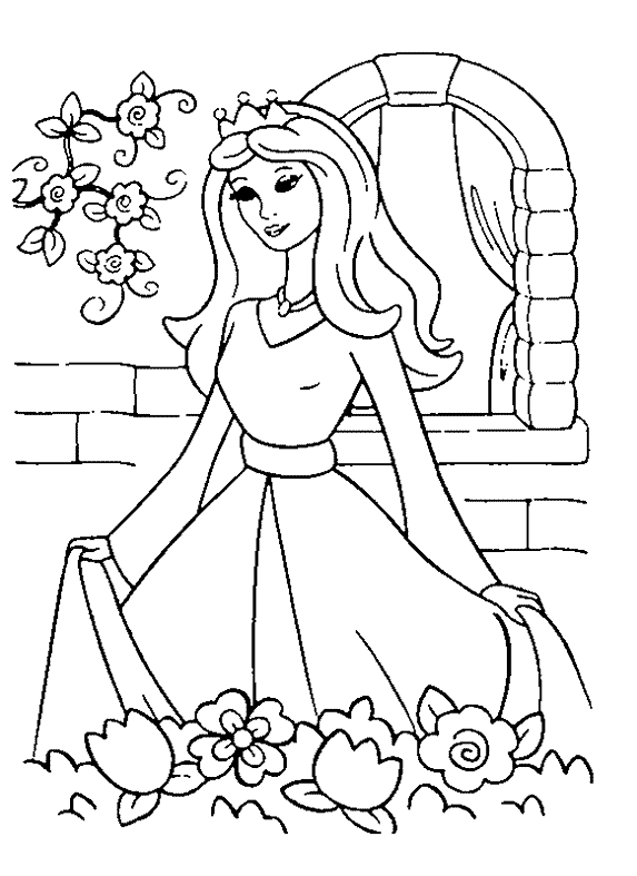 Princess 5 Coloring Page & Coloring Book