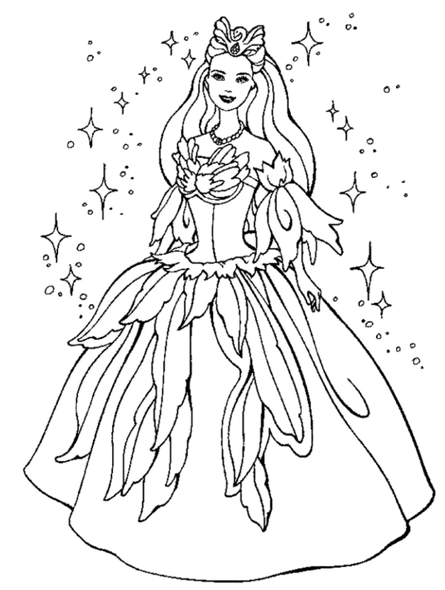 Princess Coloring Pages Print
