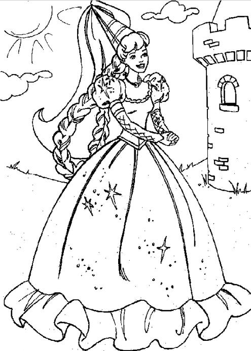 Princess Castle Coloring Page & Coloring Book