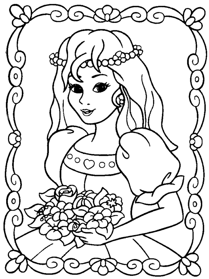 Princess Coloring Page coloring page & book for kids.