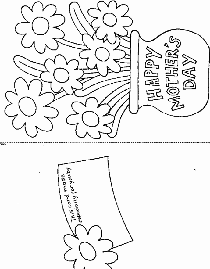 Printable Mother's Day Card & Coloring Book