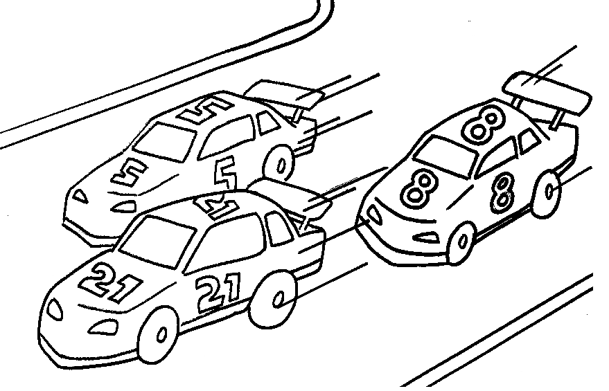 Racing Cars Coloring Page coloring page & book for kids.