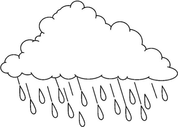 Printable raincloudcoloringpage  Coloringpagebookcom