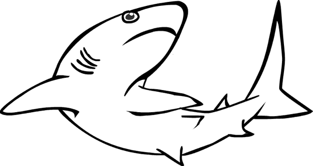 Reef Shark Coloring Page coloring page & book for kids.