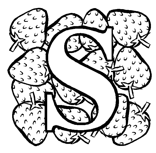 S Coloring Page & Coloring Book