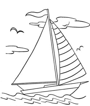 Boats : Viking Ship Coloring Page, Anchor Coloring Page