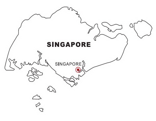 Map of Singapore & Coloring Book
