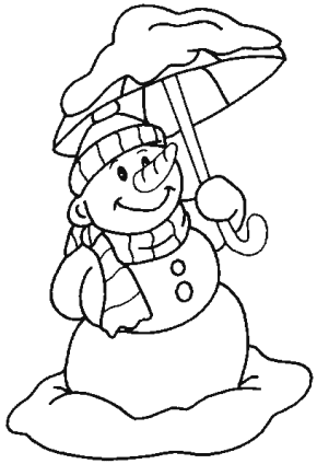Winter : Snow Day, Snow Day Play Coloring Page, Snow Day