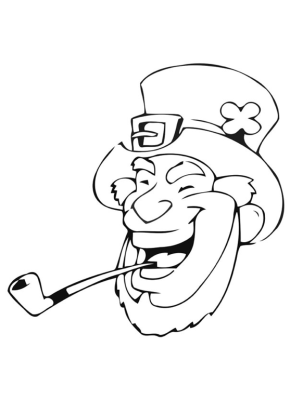 St Patricks Day : Cute Leprechaun Coloring Page, St