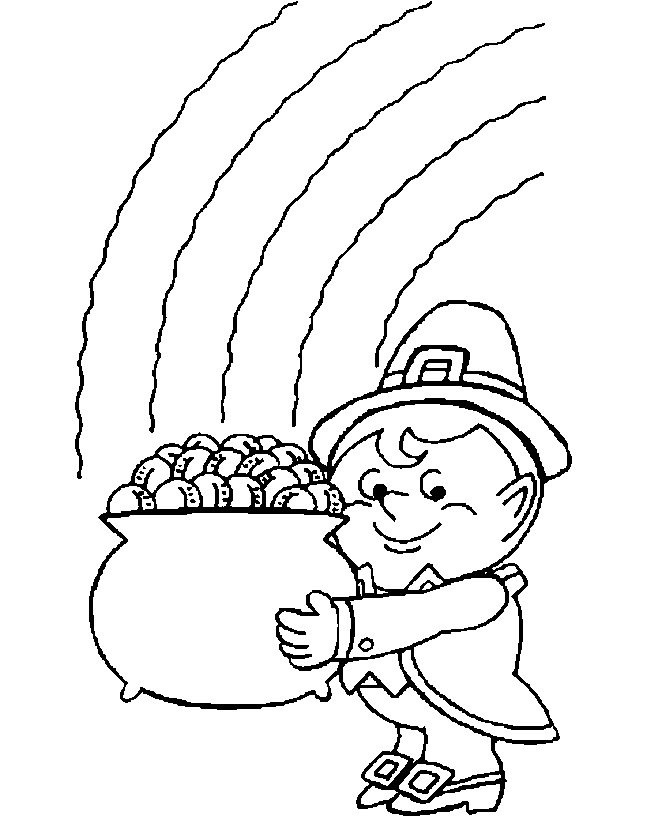 Printable st-patricks-day-gold-coloring-page
