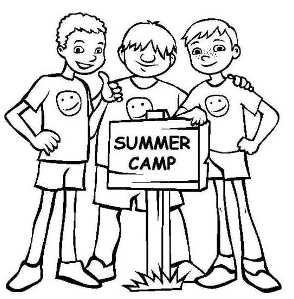 Summer Camp Coloring Page & Coloring Book