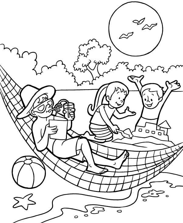 Summer Coloring Page coloring page & book for kids.