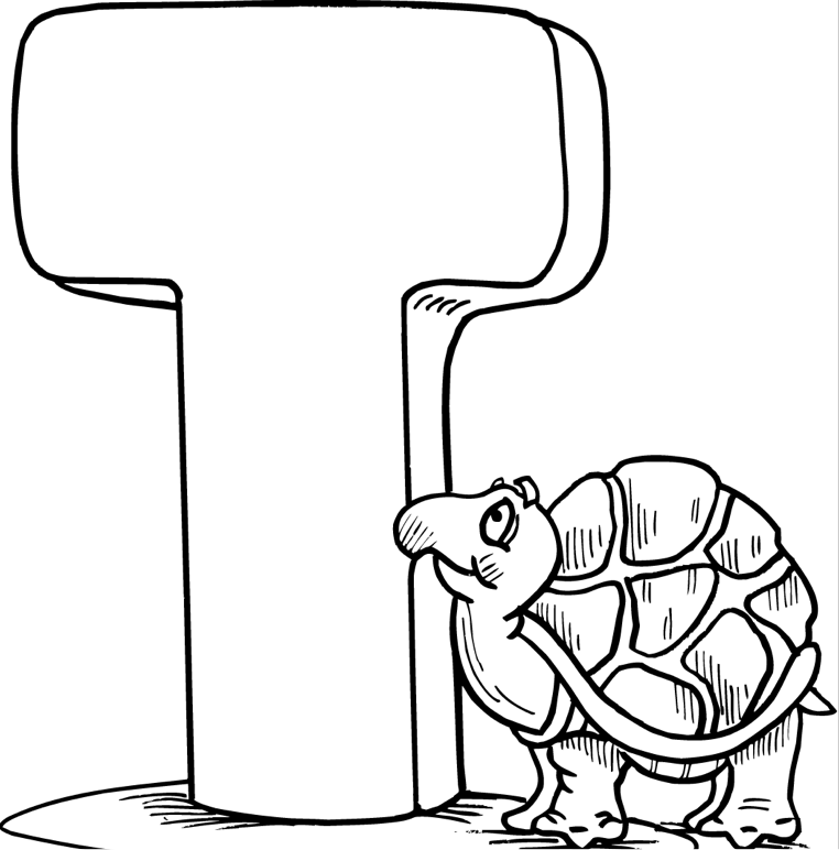 T Coloring Page & Coloring Book