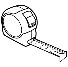 Tools : Tape Measure Coloring Page, Measuring Tape