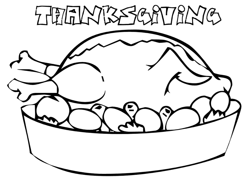 Thanksgiving Dinner Coloring Pages Saveoaklandlibrary